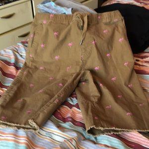 Rue 21 Flamingo shorts